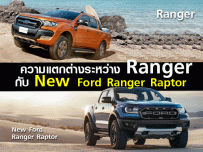 เทียบกันชัดๆ Ford Ranger กับ New Ford Ranger Raptor  แตกต่างกันอย่างไร?