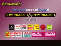 เช็คราคาส่วนลด! บัตรเครดิตใบไหนได้ส่วนลดที่ Supermarket / Hypermarket เยอะที่สุด?