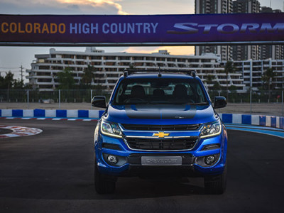 Chevrolet Colorado High Country Storm เผยสีฟ้าใหม่ ในงาน Motor Show 2017