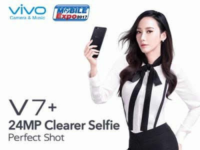 Vivo V7+ สมาร์ทโฟนไร้ขอบ กล้องหน้า 24MP วางจำหน่ายในงาน Thailand Mobile EXPO 2017