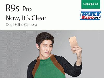 OPPO เปิดตัว R9s Pro สมาร์ทโฟนจอใหญ่ กล้องหน้าคู่ ในงาน Thailand Mobile EXPO 2017