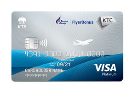 บัตรเครดิต KTC - Bangkok Airways Visa Platinum-บัตรกรุงไทย (KTC)