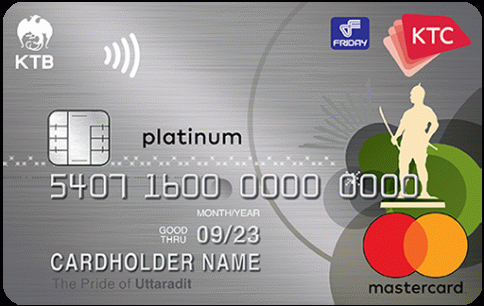 บัตรเครดิต KTC - FRIDAY PLATINUM MASTERCARD-บัตรกรุงไทย (KTC)