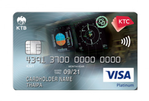 บัตรเครดิต KTC - Thai Pilot Association Visa Platinum-บัตรกรุงไทย (KTC)