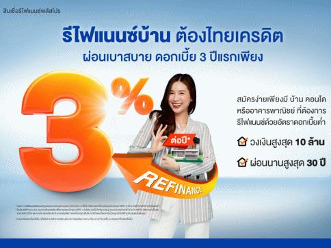 สินเชื่อรีไฟแนนซ์พลัสโปร-ธนาคารไทยเครดิต (Thai Credit)