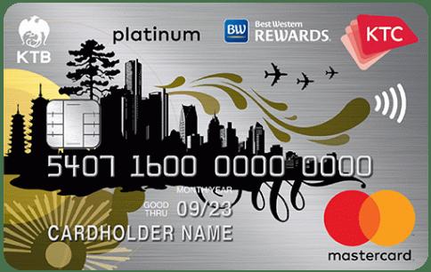 บัตรเครดิต KTC - BEST WESTERN PLATINUM MASTERCARD-บัตรกรุงไทย (KTC)