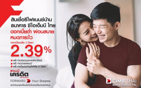 สินเชื่อรีไฟแนนซ์บ้าน-ธนาคารซีไอเอ็มบี ไทย (CIMB THAI)