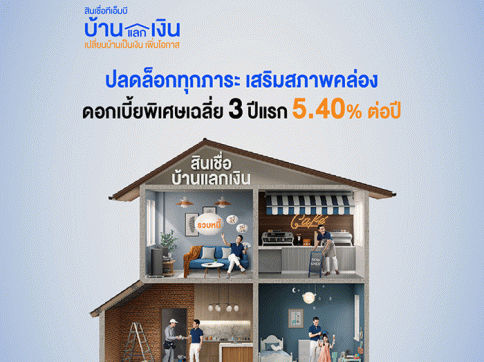 สินเชื่อทีเอ็มบี บ้านแลกเงิน-ธนาคารทหารไทย (TMB)