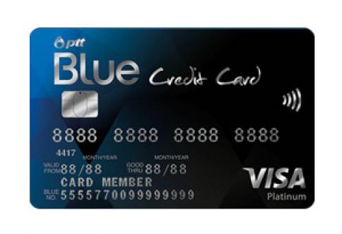 บัตรพีทีทีบลูเครดิตการ์ด (PTT Blue Credit Card)-ธนาคารกสิกรไทย (KBANK)