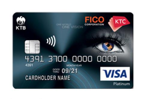 บัตรเครดิต KTC - FICO Visa Platinum-บัตรกรุงไทย (KTC)