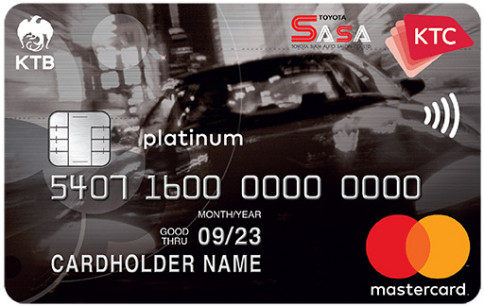 บัตรเครดิต KTC - TOYOTA SASA PLATINUM MASTERCARD-บัตรกรุงไทย (KTC)