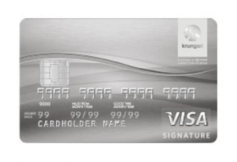 บัตรเครดิต กรุงศรี ซิกเนเจอร์ (Krungsri Signature Credit Card)-บัตรกรุงศรีอยุธยา (Krungsri)