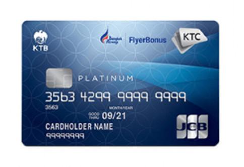 บัตรเครดิต KTC - BANGKOK AIRWAYS JCB PLATINUM-บัตรกรุงไทย (KTC)