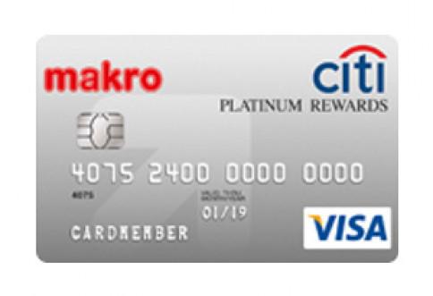 บัตรเครดิตซิตี้ แม็คโคร แพลตตินั่ม รีวอร์ด-ธนาคารซิตี้แบงก์ (Citibank)
