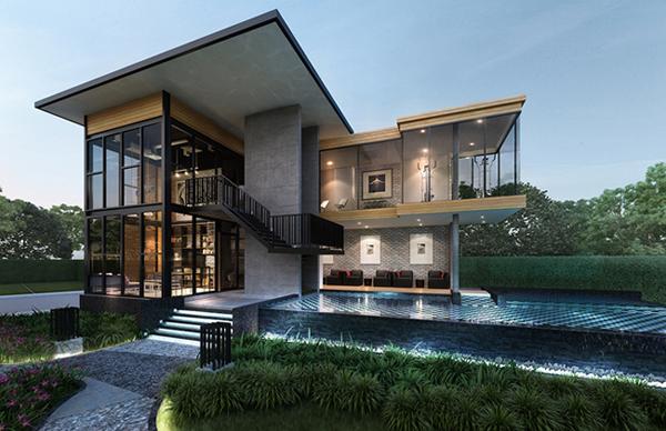 Loft Home Style : ภาพจำลองคลับเฮ้าส์ของ ...