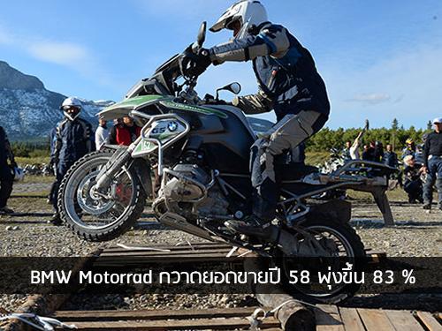 Bmw motorrad กวาดยอดขายปี 58 พุ่งขึ้น 83 %
