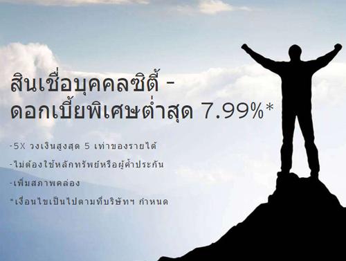 ใหม่! โปรแกรมอิสระ อัตราดอกเบี้ยต่ำสุด 7.99%