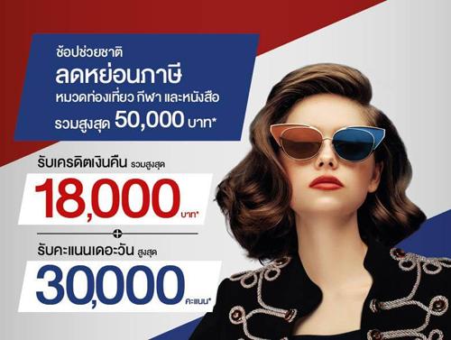 ช้อปช่วยชาติ ลดหย่อนภาษีรวมสูงสุด 50,000 บาท