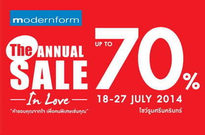 Modernform The Annual Sale In Love
