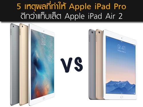 5 เหตุผลที่ทำให้ Apple iPad Pro