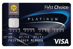 บัตรเครดิตกรุงศรีเฟิร์สช้อยส์ วีซ่า แพลทินัม
